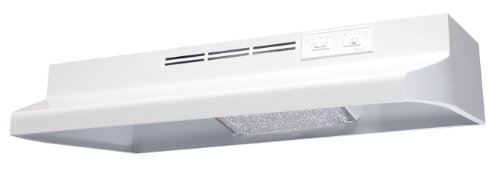 Air King AV1303 Advantage Convertible Under Cabinet Range Hood with 2-Speed Blower and 180-CFM, 7.0-Sones, 30-Inch Wide, White Finish (Kitchen Exhaust Fan Ducted compare prices)