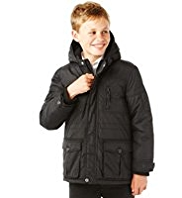Hooded Zip Pockets Jacket with Stormwear™