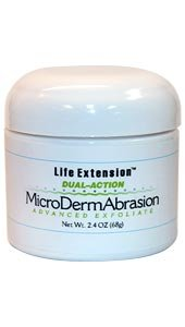 Life Extension Dual Action Microdermabrasion Advance Exfoliate Cream, 2.4-Ounce