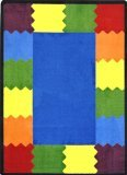 Joy Carpets Kid Essentials Early Childhood Round Block Party Rug, Multicolored, 13'2""