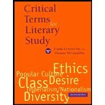 Critical Terms for Literary Study by Lentricchia,Frank. [1995,2nd Edition.] Paperback