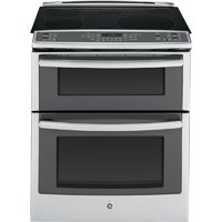 """GE PS950SFSS Profile 30"""" Stainless Steel Electric Slide-In Smoothtop Double Oven Range - Convection"""