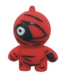 4GB Baby Mummy one eye USB 2.0 High Speed Silicon Flash Memory Drive Disk Stick Pen Support Windows and MacOS Great Gift (4GB RED) from EASYWORLD