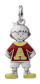 Ganz Children Jewelry Charm & Trinkets - Boy Shaped Metal Initial Charm - A