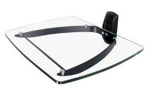 Glass Shelving Unit for DVD , SKY , PS3 Wall Mounting Bracket