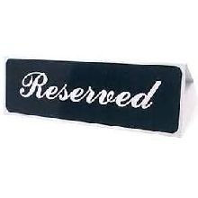 VOLLRATH COMPANY INC., TRAEX SIGN RESERVED TABLETOP 1-1 DOZEN, Manufacturer Part Number: 4135
