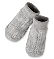 Knitted Booties with Angora