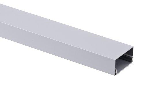 alu kabelkanal silber eckig 115x3 7 cm f r tv hifi computer lampen aluminium abdeckung led. Black Bedroom Furniture Sets. Home Design Ideas