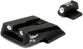 Trijicon Sa37 Front & Rear Night Sight - S&W M&P Series, Green Front & Orange Rear Sa37O