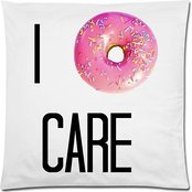 Lfarncomboutlet Creative Fashion Cotton Linen Square Decorative Throw Pillow Cover 45*45cm I Donut Care Cushion Case