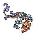 Dragon Glitter Temporary Tattoo 2×2