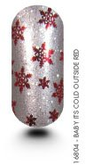 New Years Eve Kooky Nail Wraps - Baby Its Cold Outside Red