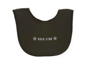 Silly Souls Rock Star Infant Bib Black For 0-24 Months Baby front-655984