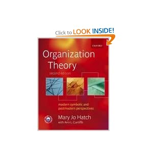Organization Theory: Modern, Symbolic, and Postmodern Perspectives Mary Jo Hatch and Ann L. Cunliffe
