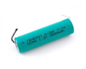 4/3A Size 3800mAh Rechargeable NiMH Battery W/ Tabs