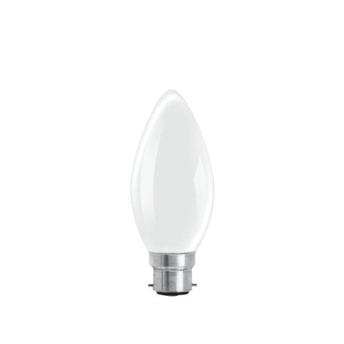 Rough ampoules style bougie à baïonnette GLS 60 W Givré (Lot de 10)