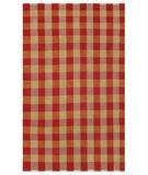The Rug Market 46021D PLAID RED/GOLD AREA RUG 5x8