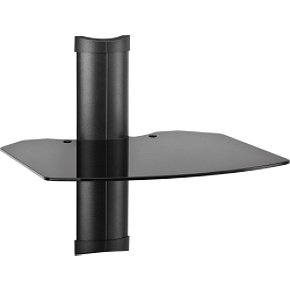 OmniMount Tria 1 B - 1 Shelf Wall Furniture (Black/Dark Glass)