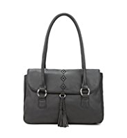 M&S Collection Leather Diamond Cut-Out Tote Bag