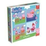 Peppa Pig 4 Seasons Jigsaws - 4 Jigsaws 4 / 6 / 9 / 16 pieces