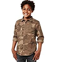Pure Cotton Classic Collar Camouflage Shirt