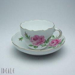 マイセン(Meissen) ピンクローズ(ピンクのバラ) 020110582 コーヒーカップ&ソーサー【並行輸入品】