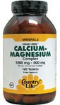 Country Life - Calcium-Magnesium Complex, 180 tablets