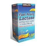 Kirkland Signature Fast Acting Lactase, Compare to Lactaid Fast Act (4 Pack) 720 Caplets