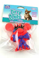 Vo-Toys Latex Tiny Tails Bow Tie Mouse Dog Toy Assorted Colors