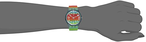 Swatch Women's GS124 Quartz Rainbow Dial Plastic Watch 1