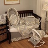 Hoohobbers Chevron 4 Piece Crib Bedding Set - 1