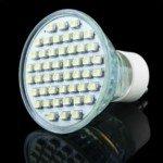 200-240V Gu10 Cool White Light 48 Led 3528 Smd Energy Save Lamp(Silver)