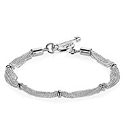 M&S Collection Silver Plated Multi-Strand Chain Bracelet