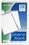 top-flight-steno-book-top-wirebound-6-x-9-inches-gregg-ruling-white-paper-80-sheets-4600945-80-ct-pa
