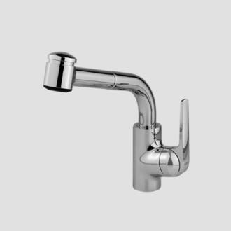 KWC 10.061.002.127 DOMO Single-Lever Pull Out Kitchen Faucet, Splendure Stainless Steel