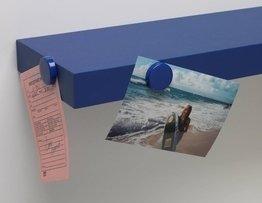 4D Concepts Magnetic Shelves, Blue, 2-Pack front-270200