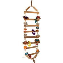 Planet Pleasures Rope Ladder Small Natural Bird