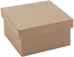 "Bulk Buy: Dcc Paper Mache Mini Square Box 3""X3""X1 1/2"" 28-0025 (12-Pack)"