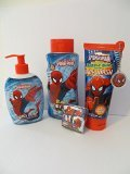 Spiderman Bath Body Wash Hand Soap Disney 4 Piece Gift Set - 1