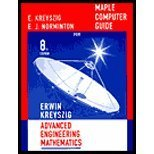 Advanced Engineering Mathematics, Maple Computer Guide (8th, 01) by Kreyszig, Erwin [Paperback (2000)] (0471404225) by Kreyszig, Erwin