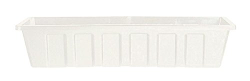 Novelty 02362 Polypro Plastic Flower Box Planter, White, 36-Inch Length (Plastic Flower Box compare prices)