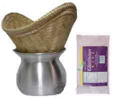 Thai Sticky Rice Kit (steamer, basket, cheesecloth, 5 lbs sticky rice)