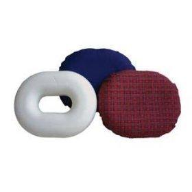 """Rose Donut Cushion, Large, 18"""" Diameter - Blue"""