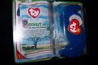 Peanut the Royal Blue Elephant Ty Tennie Beanie Baby