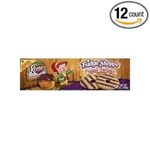 Keebler Fudge Shoppe Fudge Stripes Cookies 11.5 oz (Pack of 12)