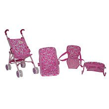 You Me 4 In 1 Accessory Doll Play Set Stroller High