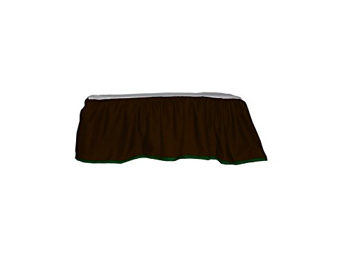 Baby Doll Solid Reversible Crib Dust Ruffle, Brown/Green