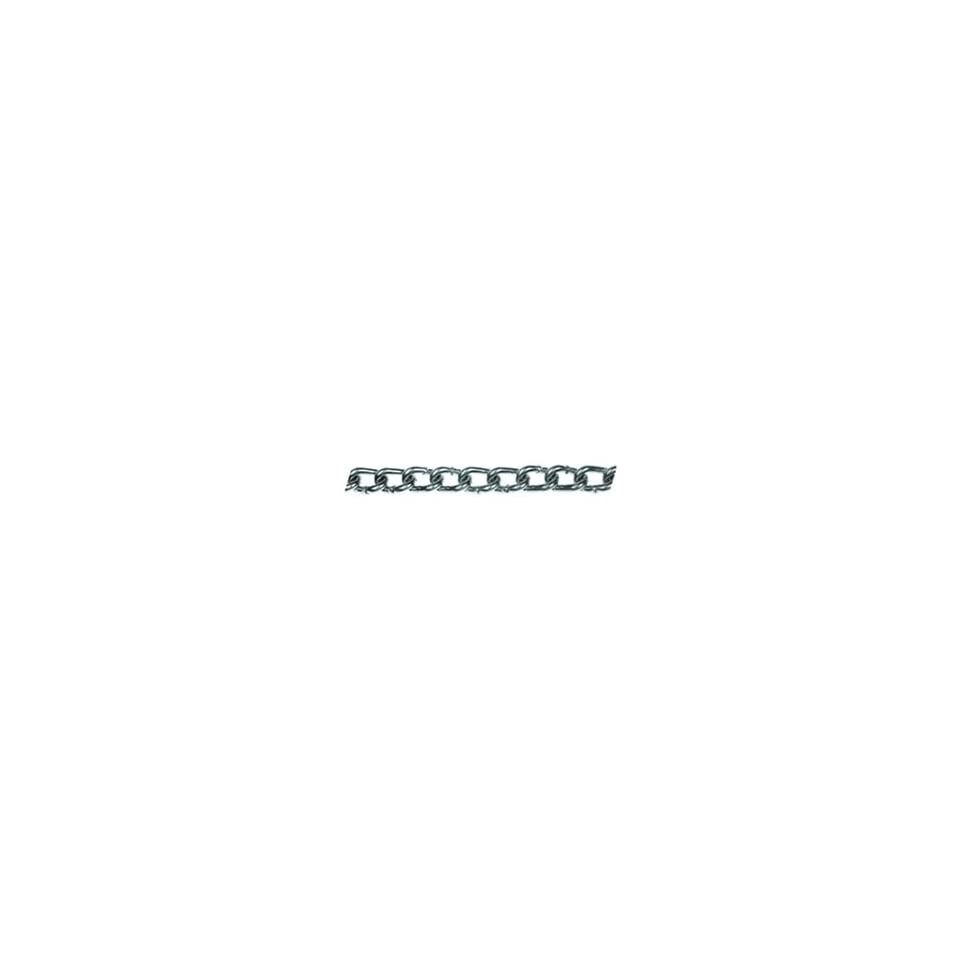 155lb WLL Zinc Plated Low Carbon Twist Link Machine Chain, Pack of