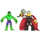 Marvel Super Hero Adventures 2 Pack Hulk & Thor