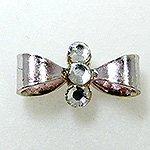 Jewelry Nail プリティネイル チャーミングリボンー2 シルバー PNー0301R
